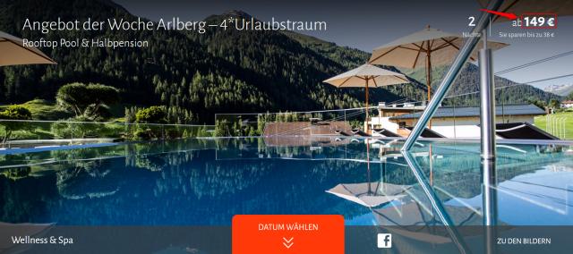 Hotel Arlmont Arlberg Angebot Travador