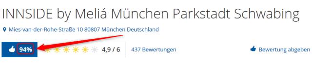 INNSIDE by Melia Muenchen Parkstadt Schwabing Bewertungen Holidaycheck