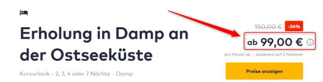 Ostsee Resort Damp Angebot Travelcircus