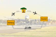 Reisen mit Gabelflug Grafik