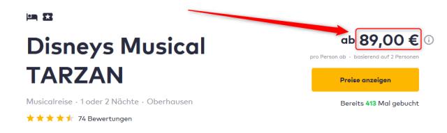 TRYP CentrO Oberhausen und Disneys Musical TARZAN