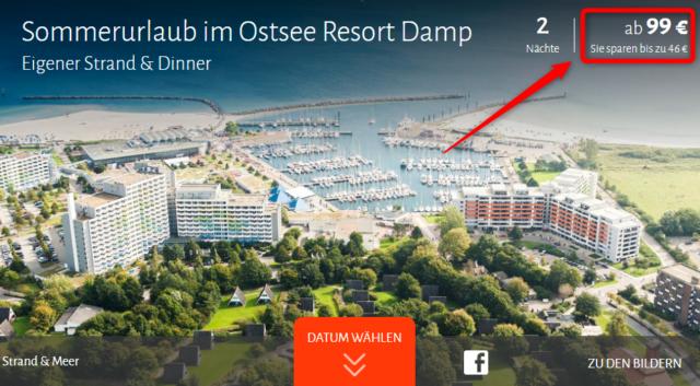 ostsee resort damp deal travador