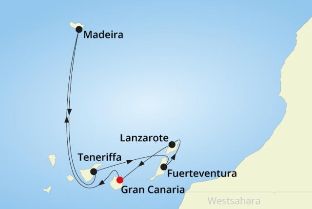 route-aidanova-gran-canaria-teneriffa-lanzarote-fuerteventura-madeira