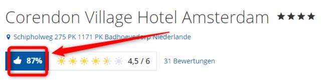 corendon village hotel amsterdam bewertungen