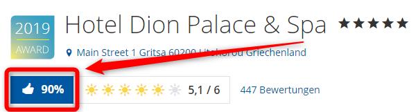hotel dion palace spa bewertungen