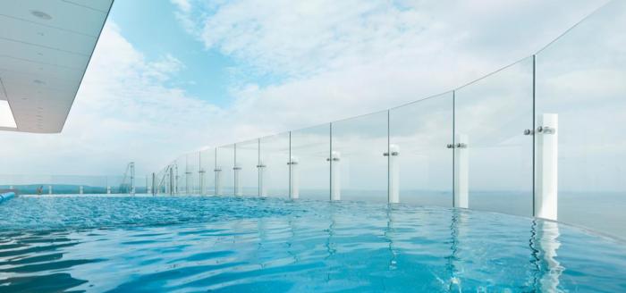 infinity pool radisson blu swinemuende