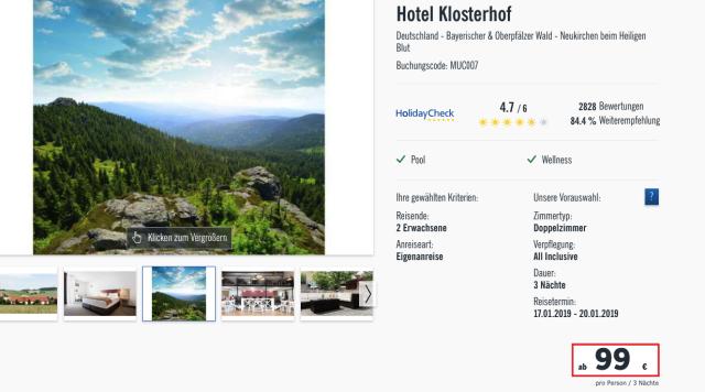 lidlreisen_hotelklosterhof_bayerischerwald_preis