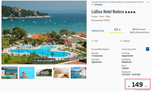 lidlreisen_hotelhedera_kroatien_preis