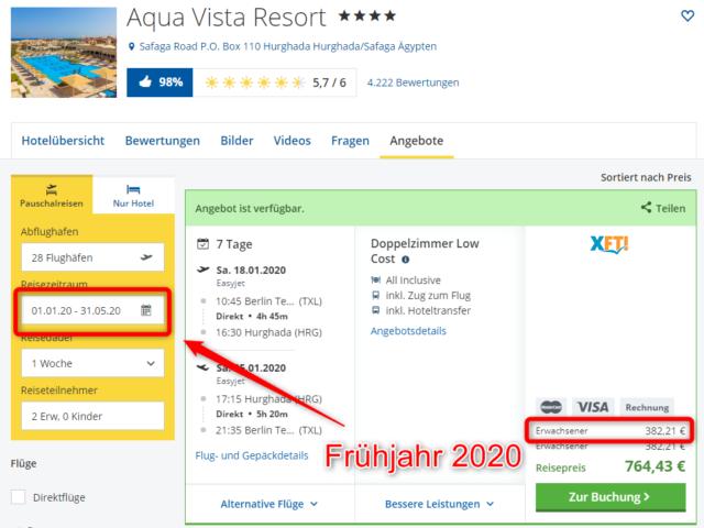 hotel aqua vista resort hurghada angebot urlaub 2020 fruehjahr