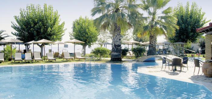 hotel robolla beach korfu pool