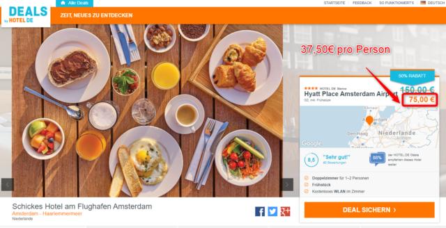 hotel de deals hyatt place schnappechen amsterdam airport