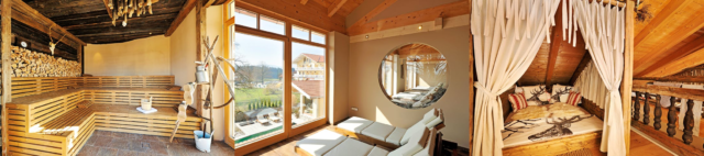 hotel wellness spa gut edermann sauna aussicht zimmer
