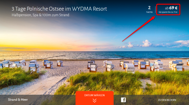wydma resort angebot travador