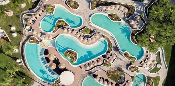 mitsis norida beach hotel von oben