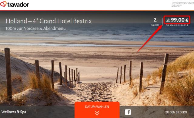 grand hotel beatrix angebot travador