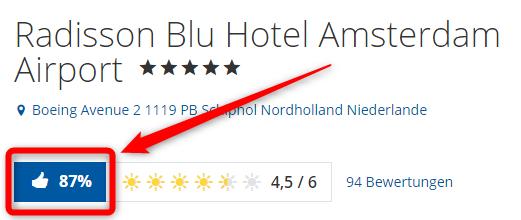 radisson blu hotel amsterdam airport bewertungen holidaycheck
