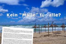 Strand auf Malle mit Abmahnung