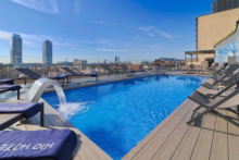 h10 marina barcelona rooftop pool