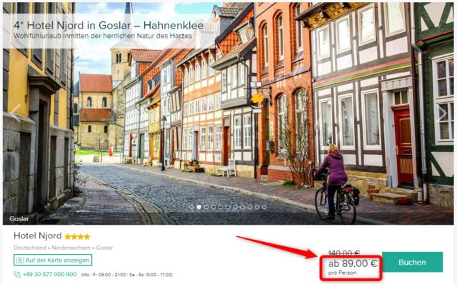 hotel njord goslar angebot travelcircus