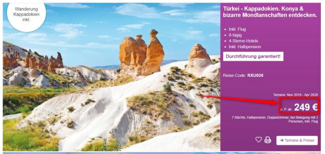 kappadokien angebot berge und meer