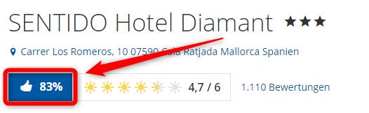 sentido hotel diamant bewertungen holidaycheck