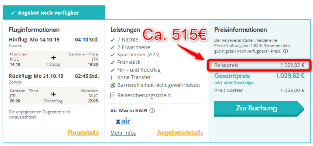 angebot hotel hermes thomas cook