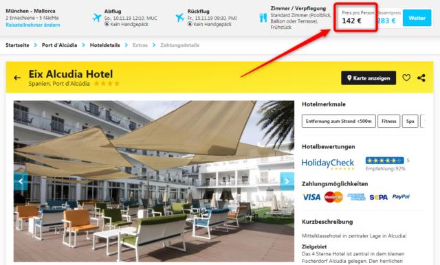 eix alcudia hotel angebot hlx