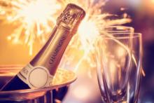 feuerwerk champagner silvester
