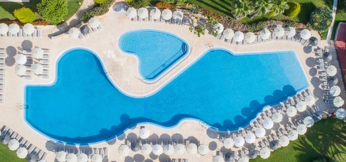 hotel grupotel playa club ansicht von oben