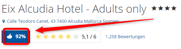 eix alcudia hotel adults only bewertungen holidaycheck