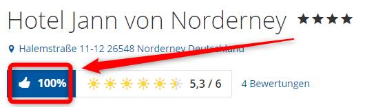 hotel jann von norderney bewertungen