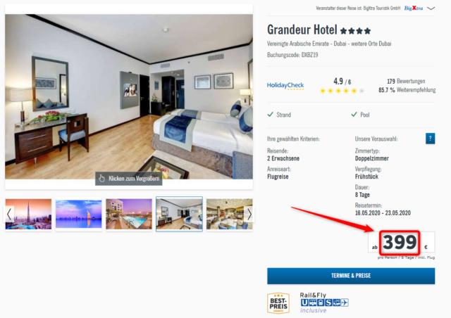 grandeur hotel angebot lidl reisen