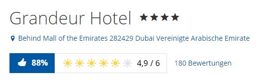 grandeur hotel dubai bewertungen holidaycheck