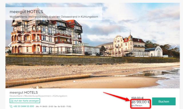 kuehlungsborn meerguthotels angebot travelcircus
