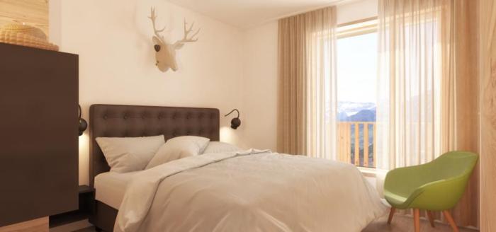 schlafzimmer alprima aparthotel hinterstoder