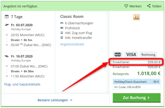 al bandar rotana creek angebot holidaycheck