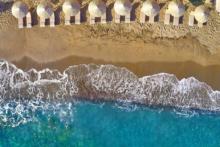 chersonissos strand von oben