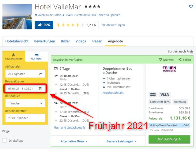 hotel vallemar teneriffa urlaub 2021 fruehjahr