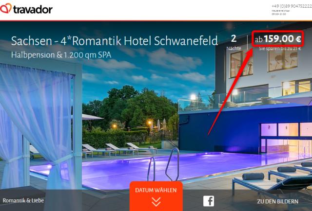 travador angebot romantik hotel schwanefeld