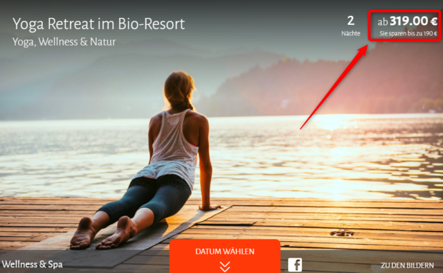yoga retreat angebot travador