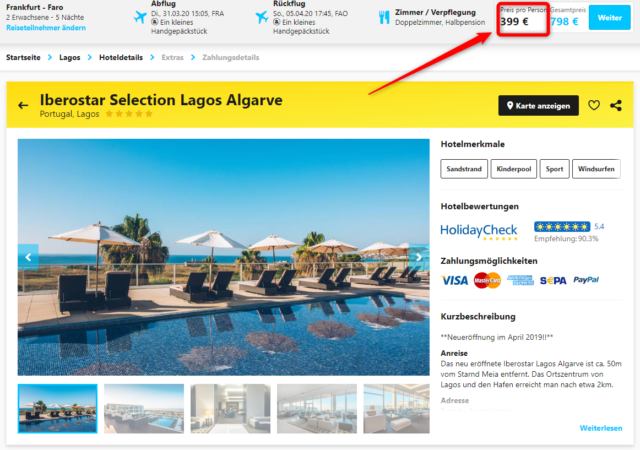 iberostar selection lagos algarve angebot hlx