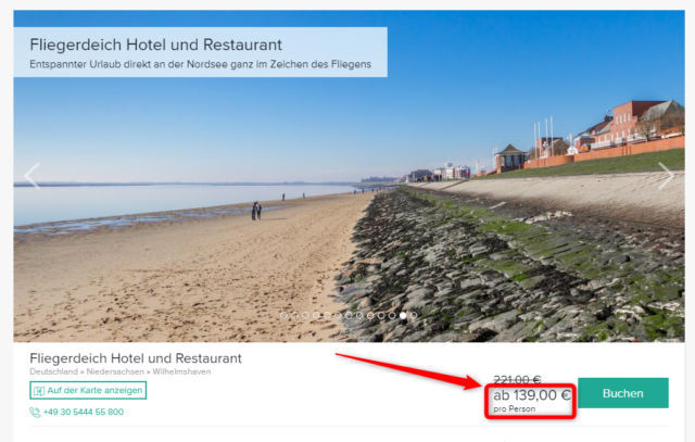angebot hotel fliegerdeich wilhelmshaven travelcircus