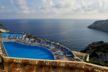 chc athina palace resort spa pool aussicht