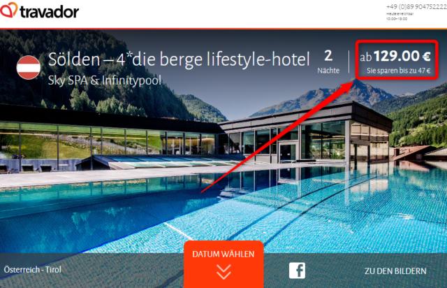 die berge lifestyle hotel deal travador
