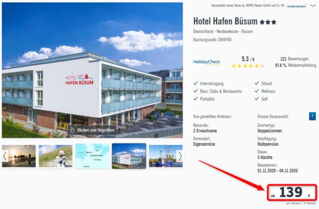 hotel hafen buesum angebot lidlreisen