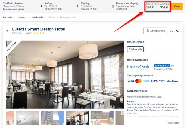 lutecia smart design hotel angebot lufthansa holidays