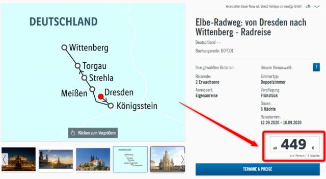 elbe radweg fahrradreise lidl wittenberg dresden