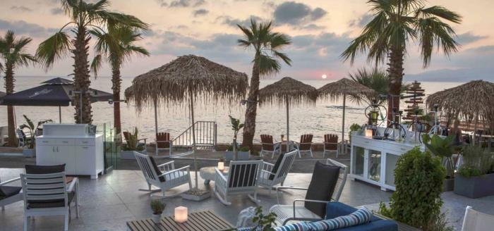 cretan beach resort anlage draussen