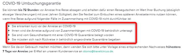 travelcircus corona stornieren