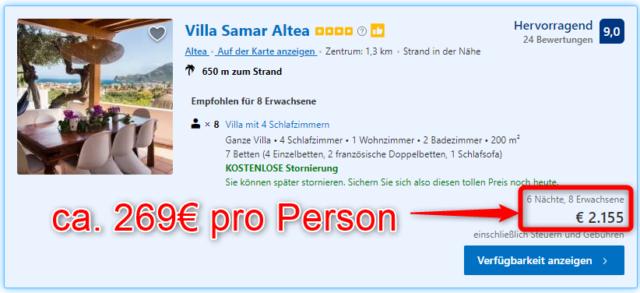 villa samar altea angebot bookingcom